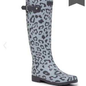 Hunter original tall leopard rain boot size 7